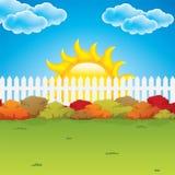 De tuin van de herfst Stock Afbeeldingen