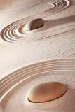 De tuin van de Zen ston meditatie Stock Afbeeldingen