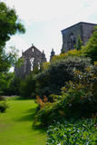 De tuin van het Holyroodhousepaleis Stock Foto