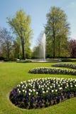 De tuin van het kasteel Stock Foto