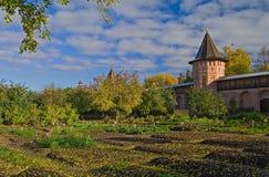 De tuin van het klooster Stock Fotografie