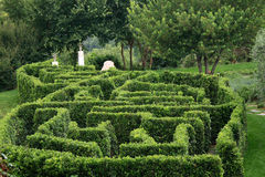 De tuin van het labyrint Stock Afbeeldingen