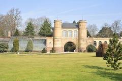 De tuin van het Paleis van Karlsruhe Stock Fotografie