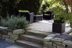 De tuin van het terras Stock Afbeeldingen