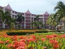 De tuin van de hoteltoevlucht royalty-vrije stock fotografie