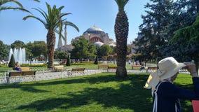 De tuin van Istanboel van Ayasophia Royalty-vrije Stock Afbeeldingen