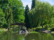 De tuin van Japan, Wroclaw, Polen Royalty-vrije Stock Afbeeldingen
