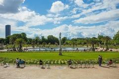 De Tuin van Luxemburg (Jardin du Luxemburg) in Parijs, Frankrijk royalty-vrije stock afbeeldingen
