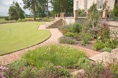 De tuin van Manicured. Stock Foto's