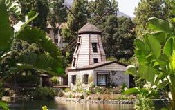 De tuin van meditatie in Santa Monica, Verenigde Staten royalty-vrije stock afbeelding