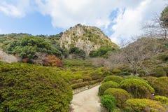 De tuin van Mifuneyamarakuen in Saga, noordelijke Kyushu, Japan stock foto