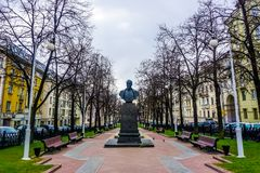 De Tuin van Minsk Dzerzhinsky stock foto's