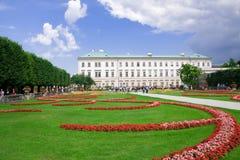 De tuin van Mirabell, Salzburg Stock Foto's