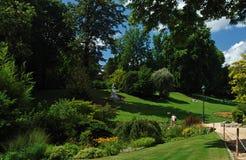 De tuin van Montsouris in Parijs Stock Foto