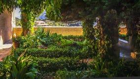 De tuin van Nice in Real Cartuja DE Valldemossa, vroeger klooster, wh stock afbeeldingen