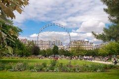De Tuin van Tuileries, Parijs Stock Afbeelding