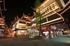 De Tuin van Yuyuan bij Nacht, Shanghai, China Royalty-vrije Stock Foto's