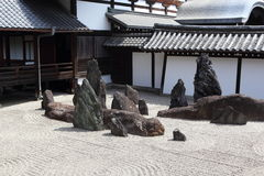 De tuin van Zen in Kyoto Stock Afbeeldingen