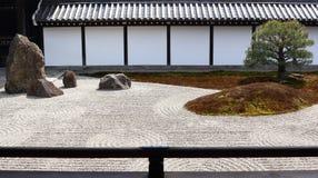 De tuin van Zen in Kyoto Royalty-vrije Stock Afbeeldingen