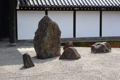 De tuin van Zen in Kyoto Royalty-vrije Stock Fotografie