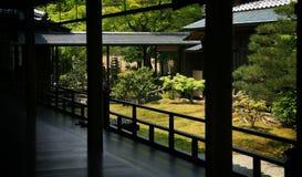De tuin van Zen in Kyoto Stock Fotografie