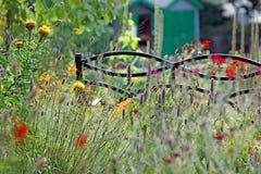 De tuinbank van het de zomerplattelandshuisje Royalty-vrije Stock Foto