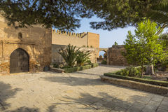 De tuinen Alcazaba royalty-vrije stock foto's