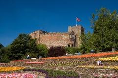 De tuinen en het kasteel Stock Fotografie