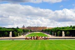 De tuinen en het paleis van Versailles Stock Fotografie