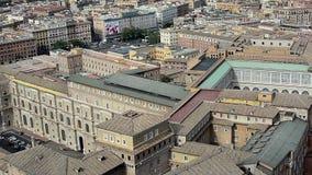 De tuinen, het museum en het vierkant van Vatikaan stock video