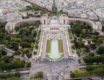 De Tuinen Parijs van Trocadero Stock Fotografie