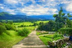 De tuinen, platteland, Royalty-vrije Stock Foto's