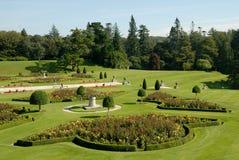 De tuinen in Powerscourt, de Italiaanse tuin Stock Foto's