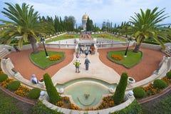 De tuinen van Baha'i Stock Afbeeldingen
