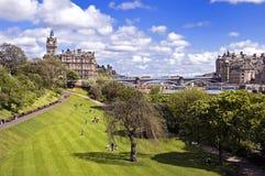 De Tuinen van de Straat van de Prinsen van het oosten, Edinburgh stock foto