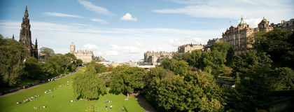 De Tuinen van de Straat van de Prinsen van het oosten, Edinburgh, Schotland Royalty-vrije Stock Foto's