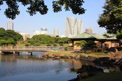 De Tuinen van Hamarikyu in Japan royalty-vrije stock afbeelding