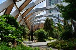 De tuinen van het Crossraildak Stock Foto