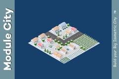 De tuinen van het gebiedslandschap Vector Illustratie