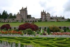 De Tuinen van het kasteel stock foto
