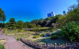 De Tuinen van het oosten van het Keizerpaleis in Tokyo Stock Fotografie