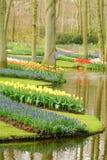 De tuinen van Keukenhof Stock Foto's