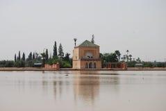 De Tuinen van Menara stock afbeelding