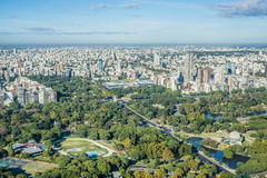 De tuinen van Palermo in Buenos aires, Argentinië. Stock Foto's