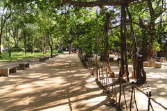 De tuinen van Sigiriya, Sri Lanka royalty-vrije stock foto's