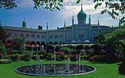 De tuinen van Tivoli, Kopenhagen, Denemarken Royalty-vrije Stock Afbeeldingen