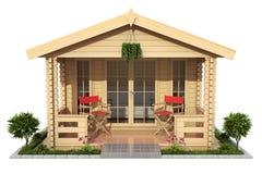 De tuinhuis van de tuin houten cabine Royalty-vrije Stock Foto's