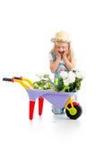 De tuinman van het kindmeisje royalty-vrije stock afbeelding