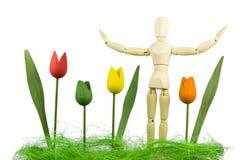 De tuinman van het stuk speelgoed Stock Afbeeldingen