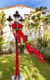 De Tuinopdracht San Buenaventura Ventura Califo van de Kerstmislantaarn Royalty-vrije Stock Afbeeldingen